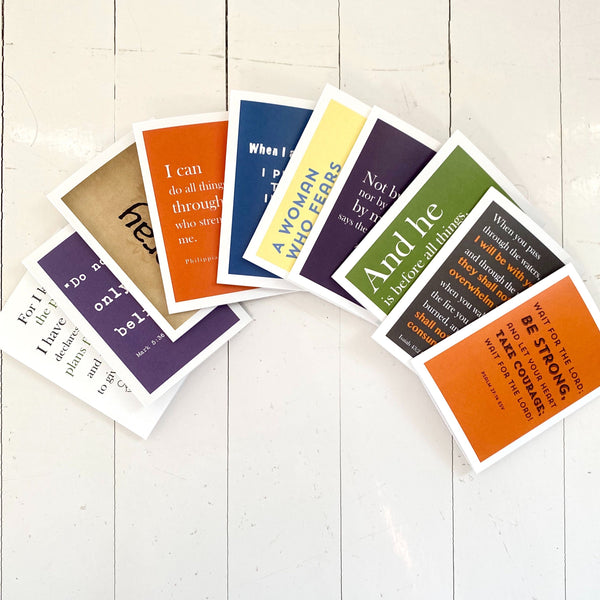 "Full Size (5""x 4.5"") Faith-Filled Scripture Card Set of 12"