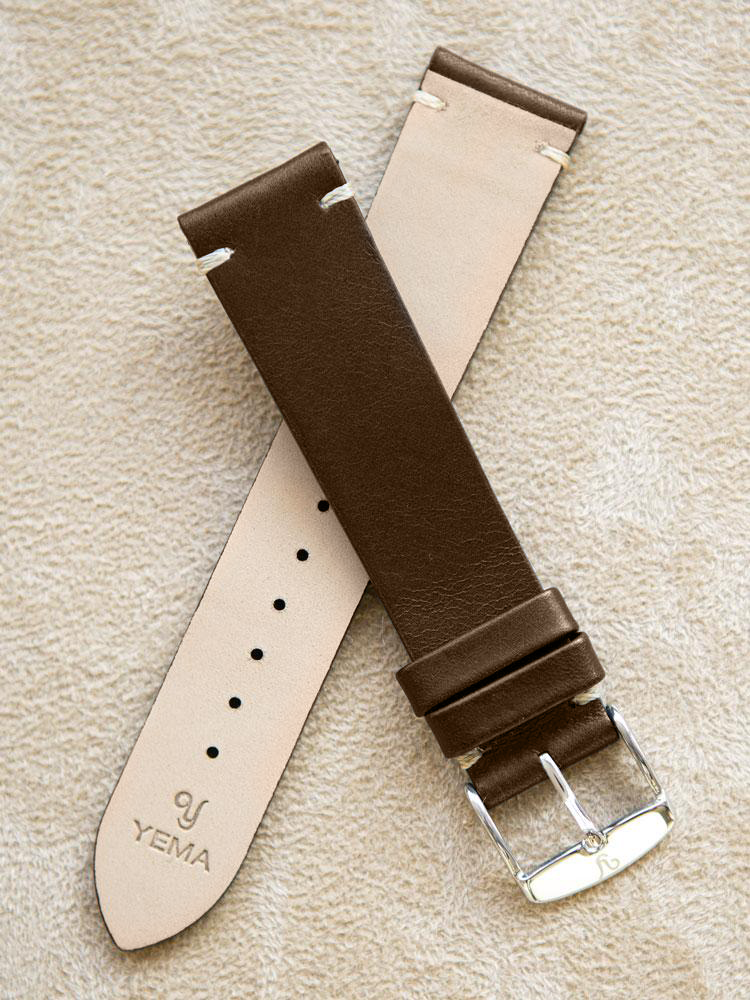 Brown Leather Vintage Watch Band 20mm