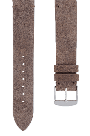 Bison Suede Leather Watch Band 19mm