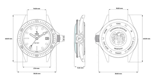 Superman Technical Drawing
