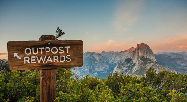 outpost rewards sign