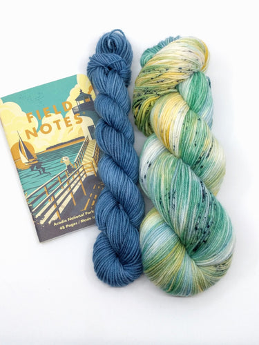 ACADIA COASTLINE with Harbor mini skein- sock kit