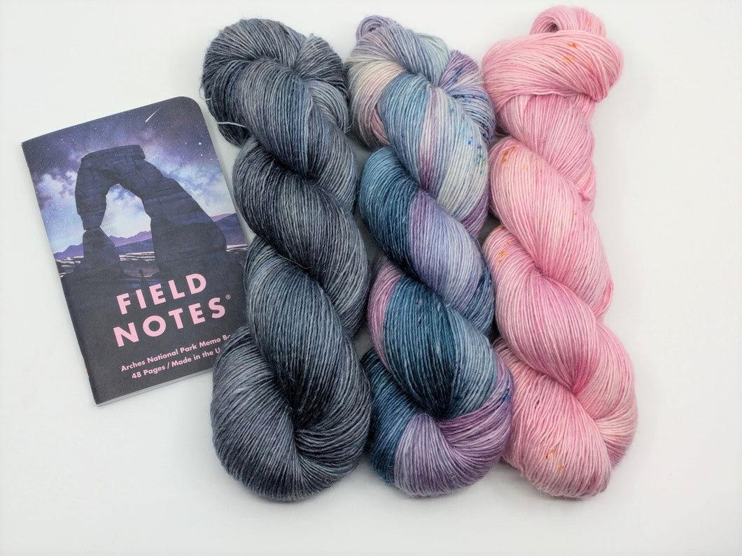 ARCHES National Park- 3 Skein Shawl kit