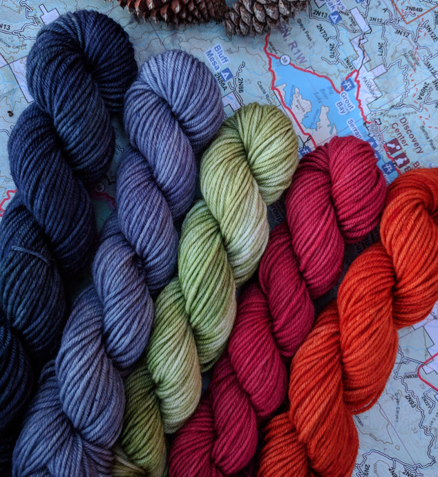 BASE CAMP Mini-Skeins- set of 5