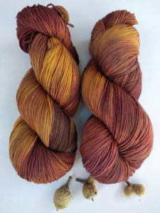 BURNISHED LEAVES- Deluxe Sock