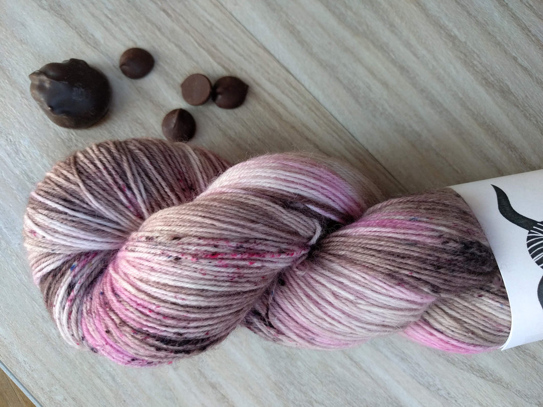 CHOCOLATE COVERED CHERRY- Simple Sock