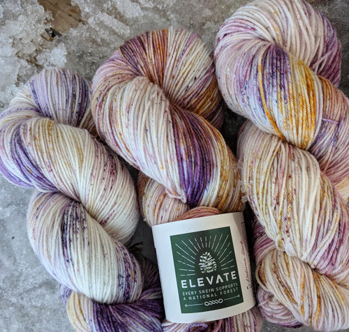 GRAPE SODA LUPINE - Deluxe Sock