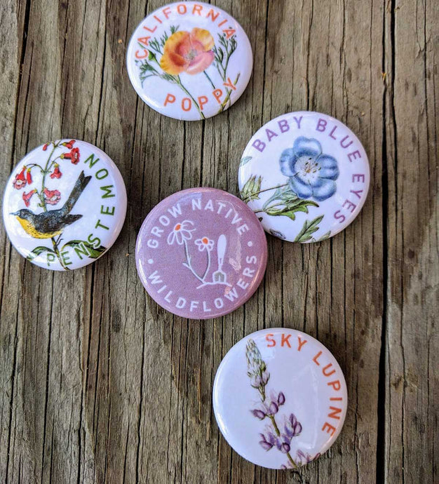 Buttons in Wildflowers