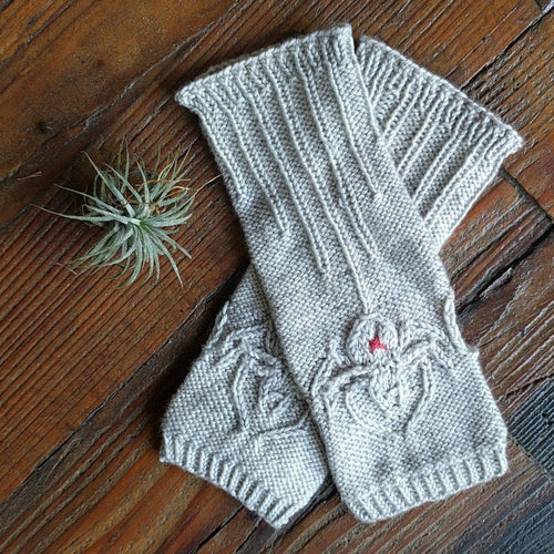 SILKEN SPIDER FINGERLESS GLOVES