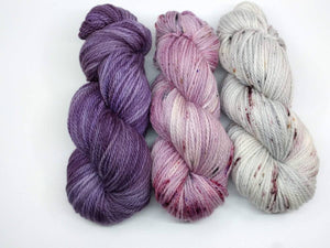 VIOLET SUNRISE-3 Skein Set-  Grand Merino