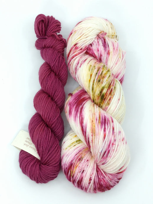 WILD APPLE with Ruby Blush- sock kit