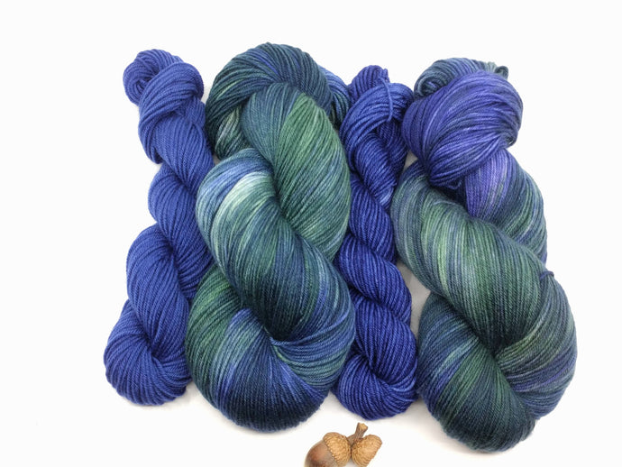 TREELINE with Vivid Sky- sock kit