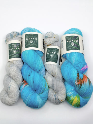 TROPICAL FLORIDA with MANATEES half-skein- sock kit