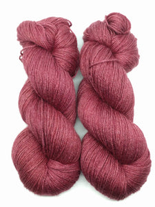 EXPLORER RED - Natural Dye, Silky BFL Sport