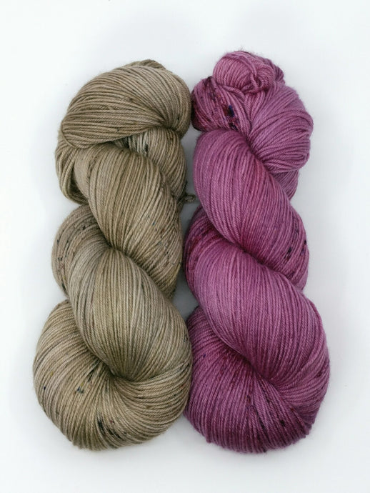 RAINFOREST ORCHID 2 Skein set- Merino Twist