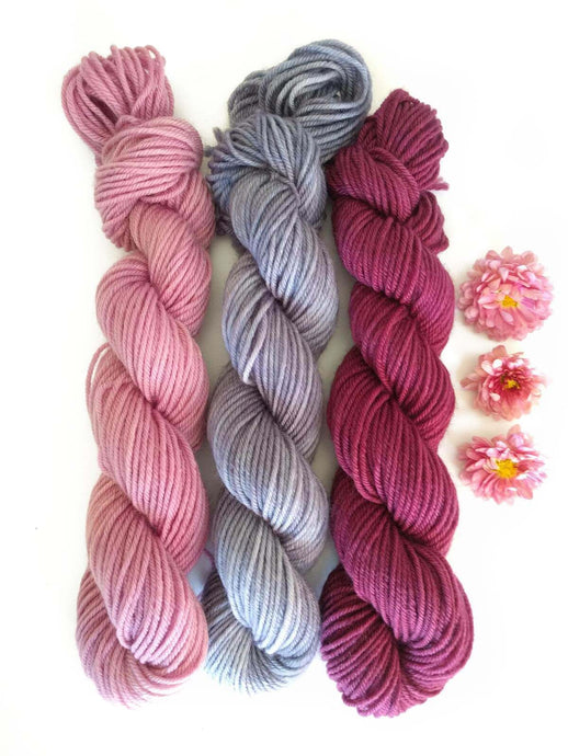 HAPPY LIFE -Spring Reflections MKAL, set of 3 mini-skeins