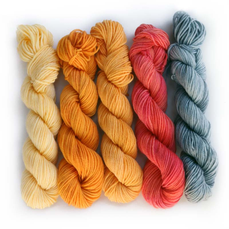 MONARCH BUTTERFLY Mini-Skeins- set of 5