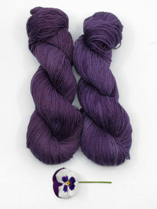 PURPLE PANSY Natural Dye, Linen & Organic Cotton