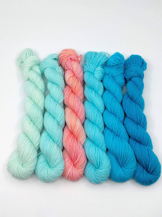 TRANQUIL WATERS Mini-Skeins- set of 6