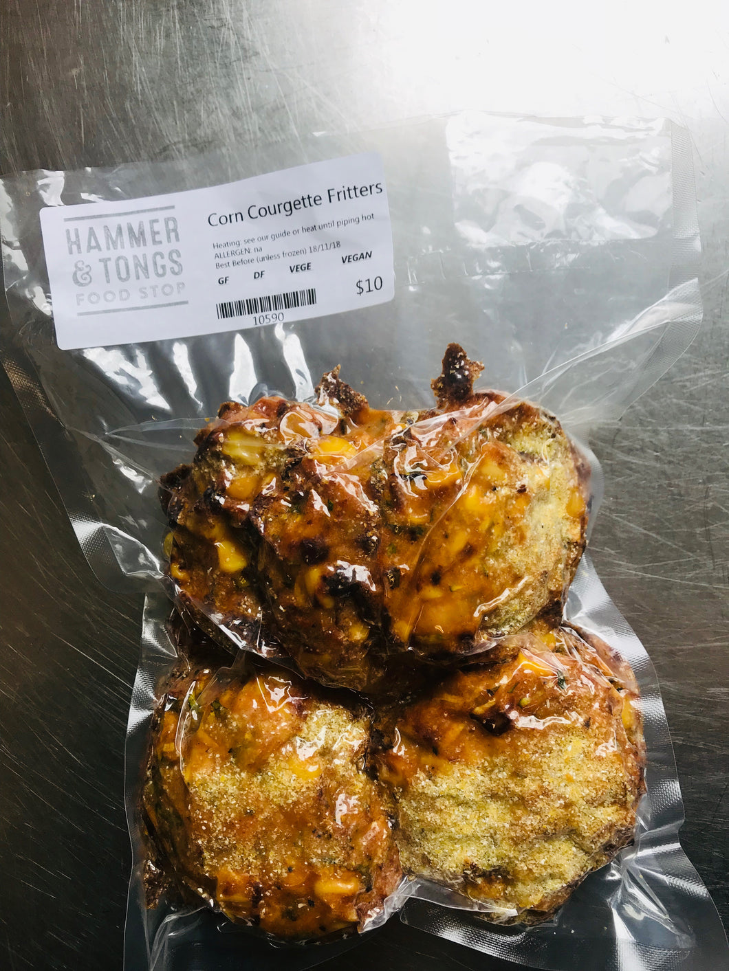 Corn Courgette Fritters