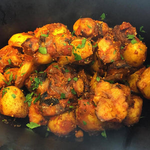 Potatoes w Mustard Seeds and Curry Leaves