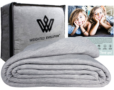 heather grey bamboo weighted blanket cover image