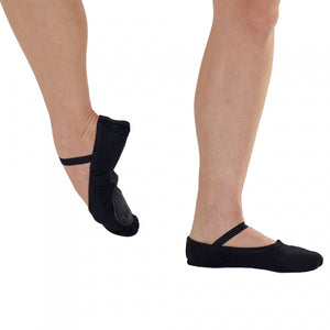 Black Canvas Ballet Shoes