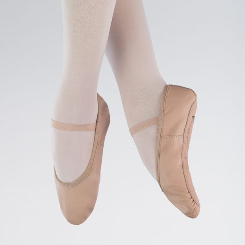 Leather Ballet Shoes with Elastics