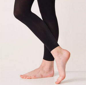 Black Footless Leggings