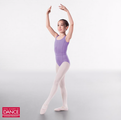 Megan Princess Line Sleeveless Leotard - Lilac