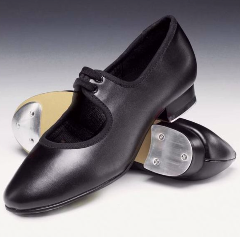 Low Heel Tap Shoes with Toe and Heel Taps