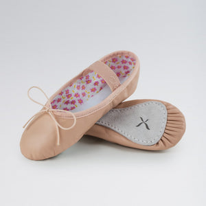 Capezio Daisy Leather Ballet Shoes with Elastic