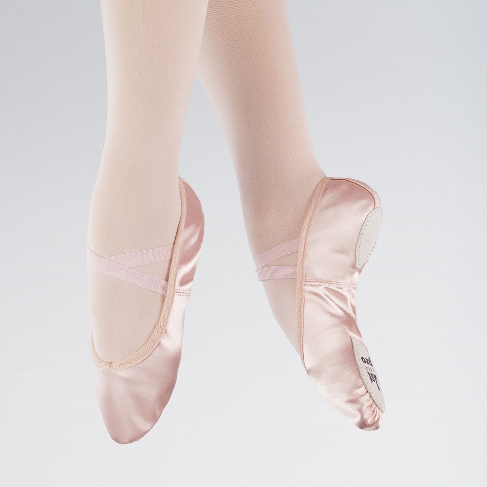Satin Split Sole Ballet Shoes