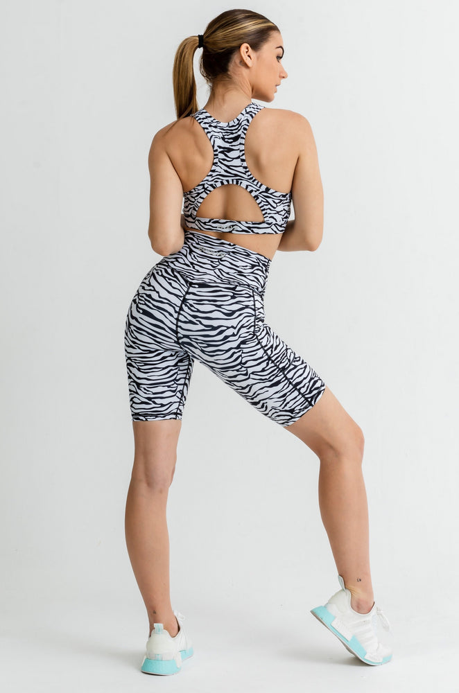 Load image into Gallery viewer, Jungle Bike Shorts - Zebra