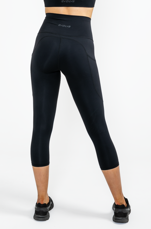 Load image into Gallery viewer, Active 3/4 Leggings - Black