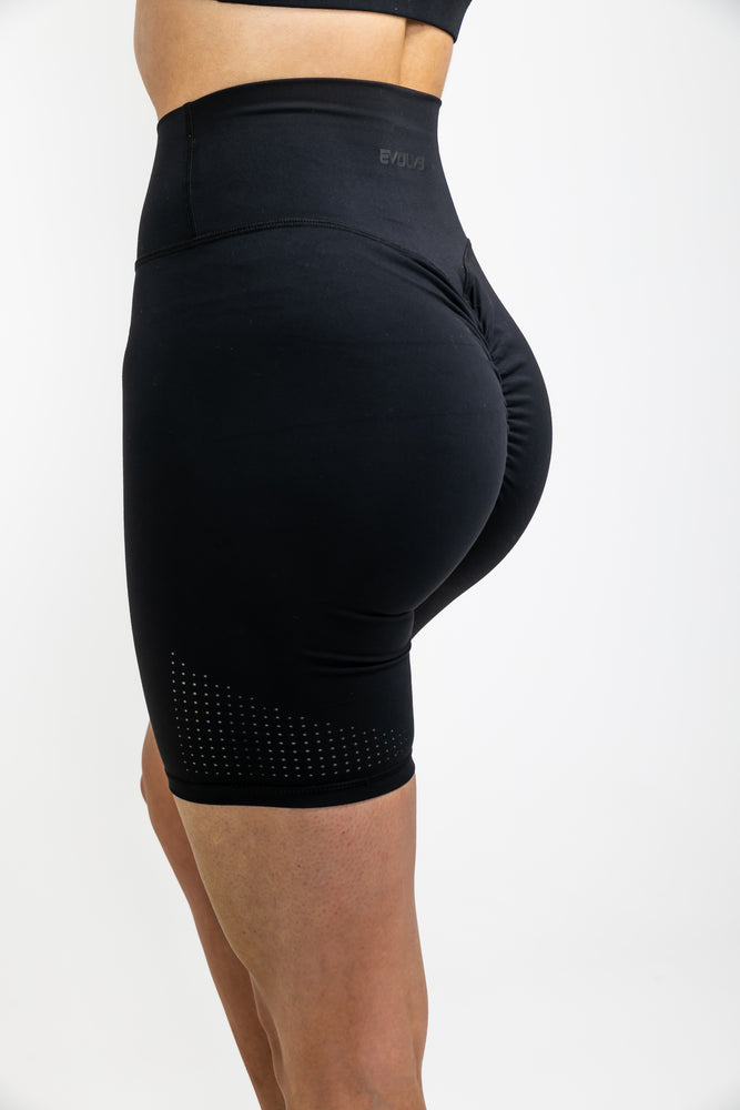 Load image into Gallery viewer, Scrunch Bike Shorts - Black