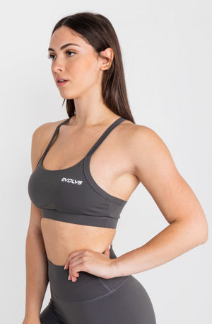 Load image into Gallery viewer, Lux Sports Bra - Slate Grey