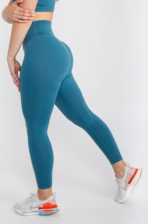 Load image into Gallery viewer, Lux Leggings - Cerulean Blue