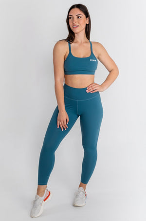 Load image into Gallery viewer, Lux Sports Bra - Cerulean Blue