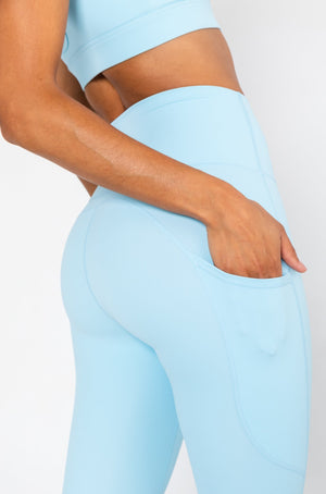 Load image into Gallery viewer, Active Leggings - Pastel Blue