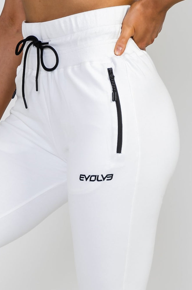 Load image into Gallery viewer, Tapered Joggers V2 - Polar White