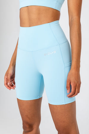 Load image into Gallery viewer, Active Bike Shorts - Pastel Blue
