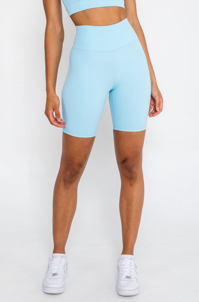 Load image into Gallery viewer, Scrunch Bike Shorts - Pastel Blue