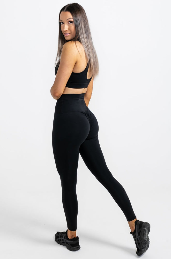 Load image into Gallery viewer, Infinity Scrunch Leggings - Black