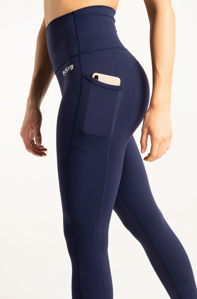 Load image into Gallery viewer, Dynamic Pocket Leggings - Navy Blue