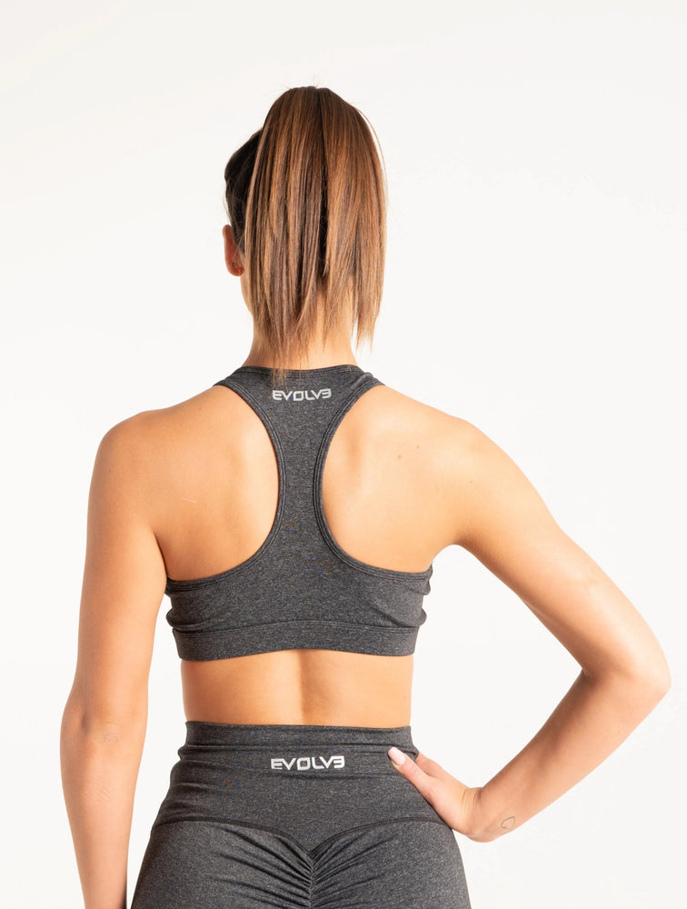 Load image into Gallery viewer, Scrunch Sports Bra - Charcoal