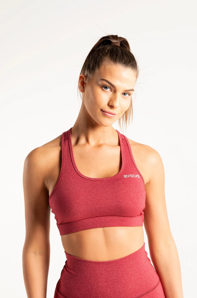 Scrunch Sports Bra - Crimson