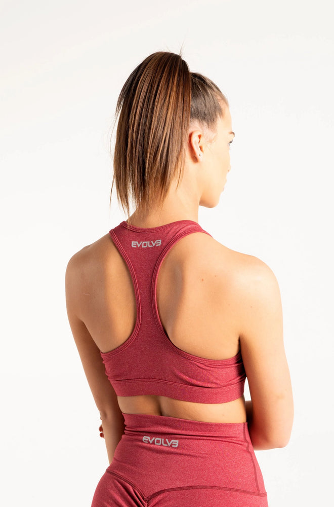 Load image into Gallery viewer, Scrunch Sports Bra - Crimson