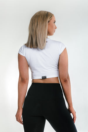 Load image into Gallery viewer, Signature Crop Top - Frost White
