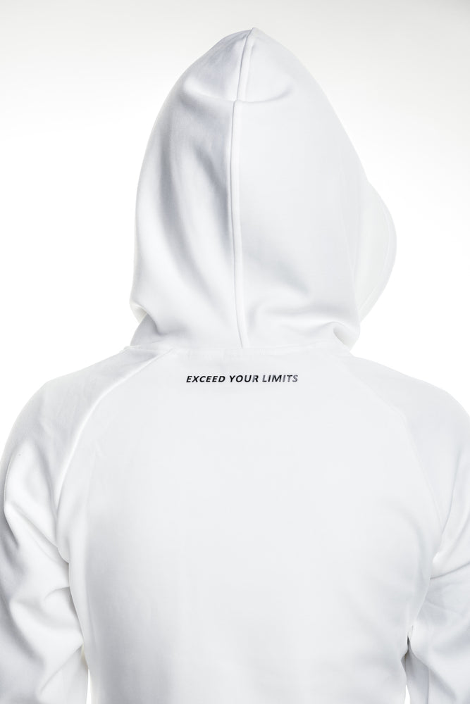 Load image into Gallery viewer, Crop Hoodie - Frost White